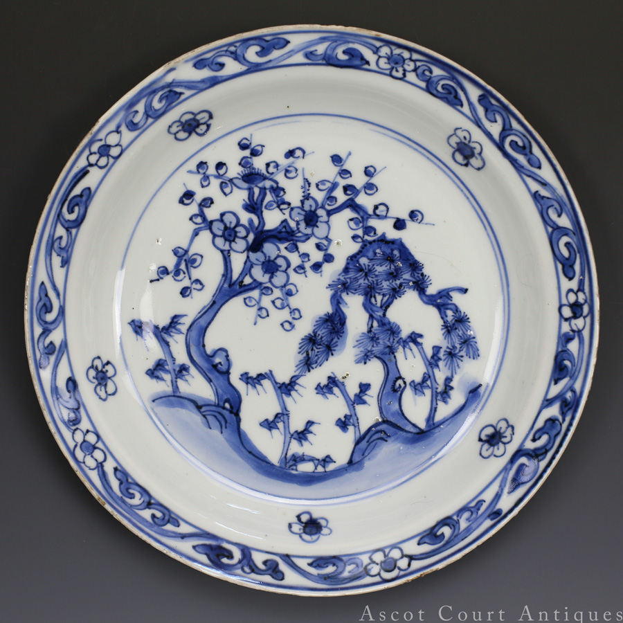 Tianqi Blue And White Ko-Sometsuke Plate