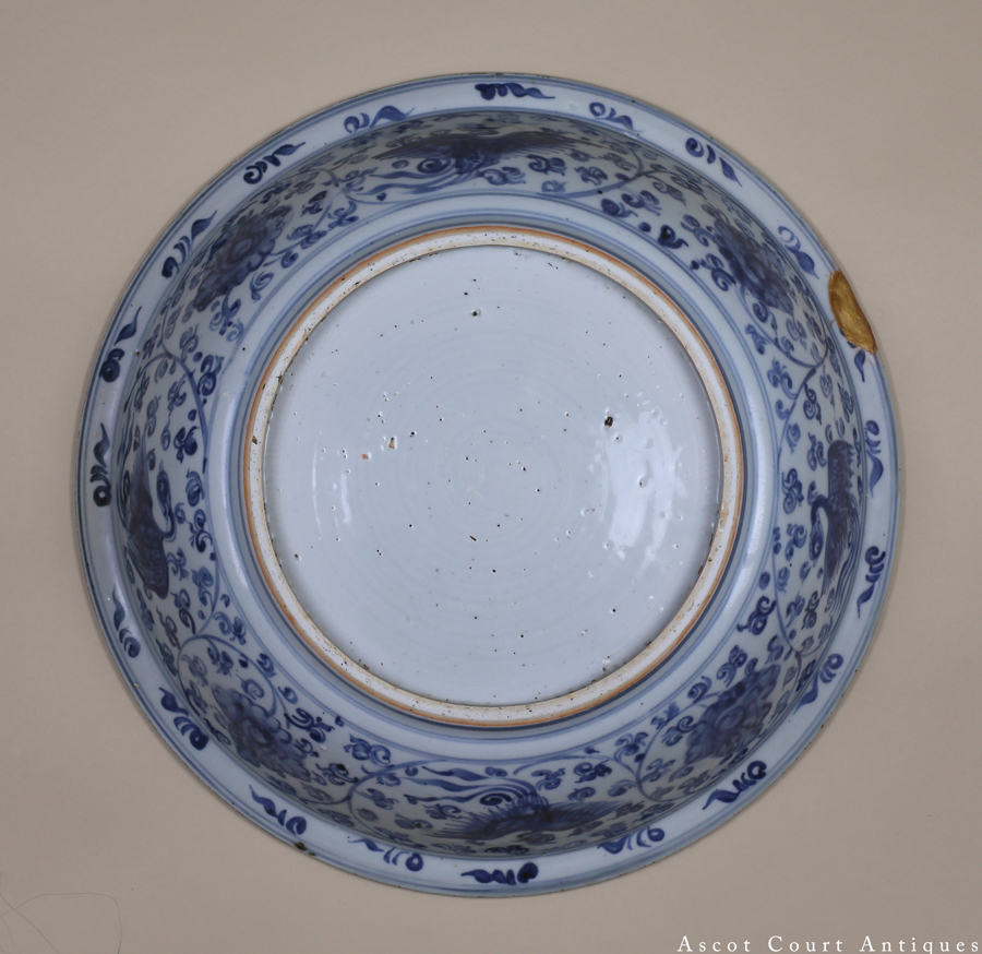 Mid-Ming Hongzhi Blue and White Charger 明中期弘治 青花大盘