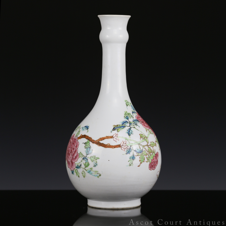 Yongzheng Famille Rose Garlic Head Vase