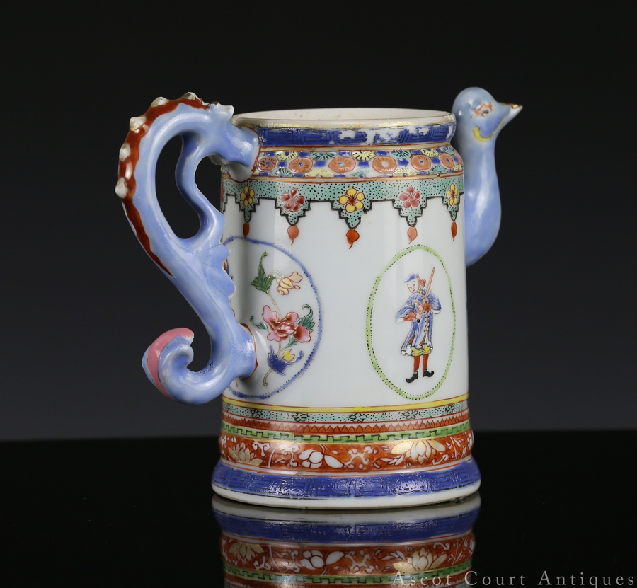 Qianlong Famille Rose European Subject Export Coffee Pot