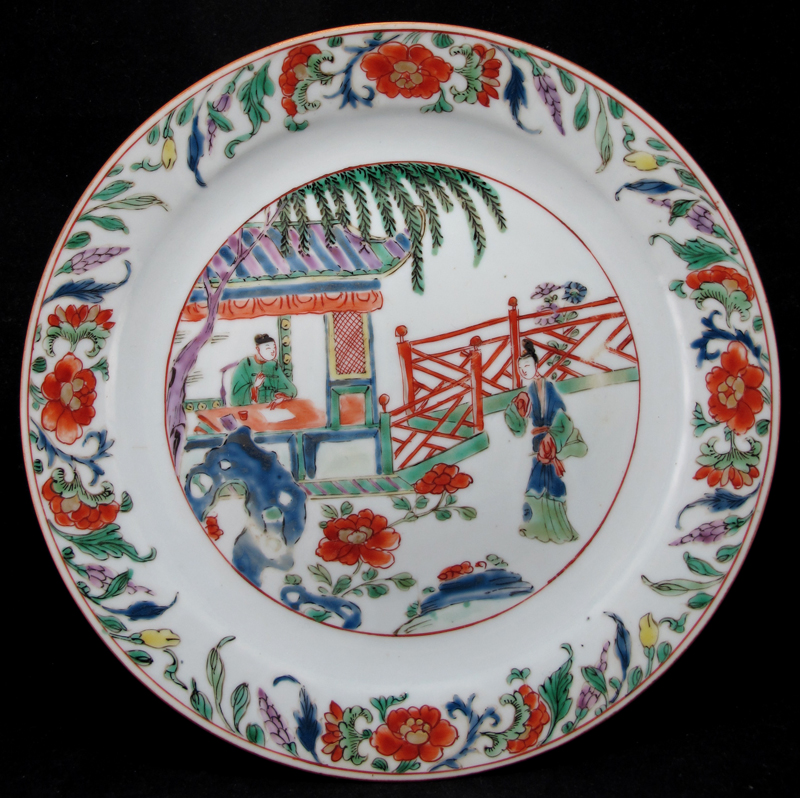 Kangxi Famille Verte Romance of the Western Chamber Plate [Sold]