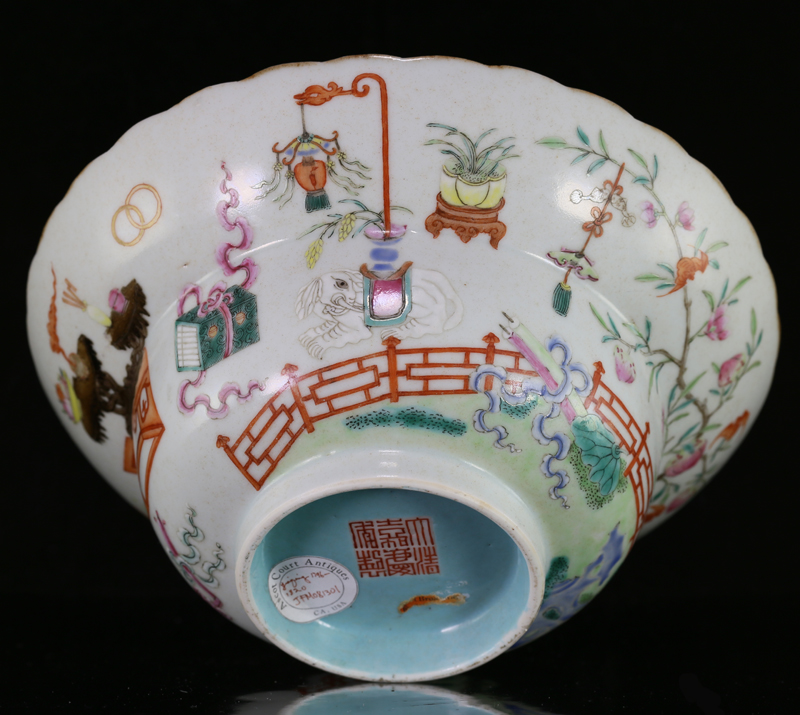 Jiaqing Mark & Period Famille Rose Ogee Bowl